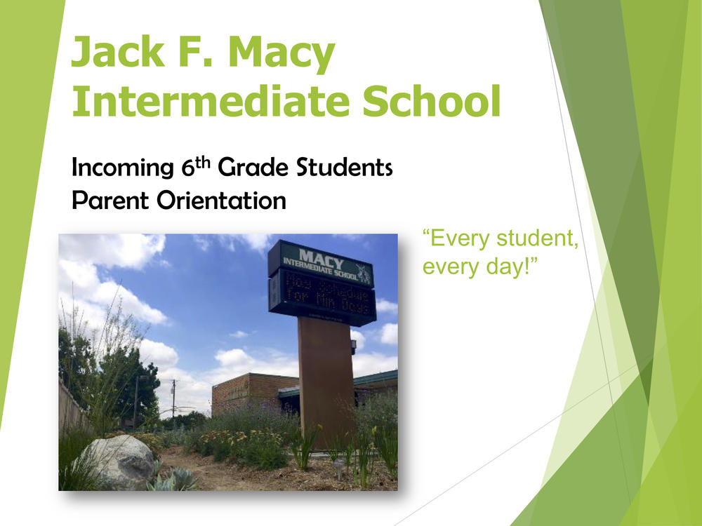 Incoming 6th Grade Parent Orientation Slides